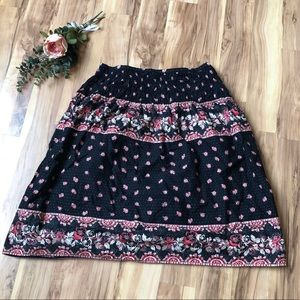 H&M a-line 100% cotton boho pattern skirt!